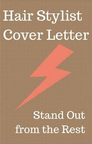 Cover letter sample salon manager